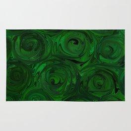 Emerald Green Roses Rug