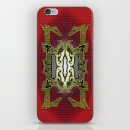 Charred 2 'red and copper' iPhone Skin