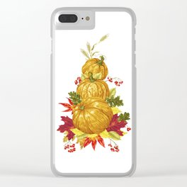 Harvest Season Mountain Clear iPhone Case
