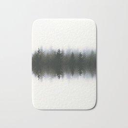 Sound waves -woods Bath Mat