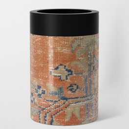 Vintage Woven Navy and Orange Can Cooler