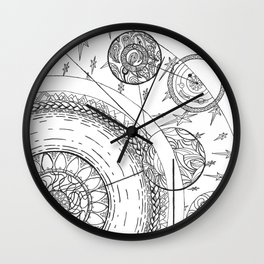 Movement of the Spheres 01 Wall Clock