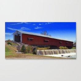 Bridgeton Bridge ~ Rockville, Indiana Canvas Print