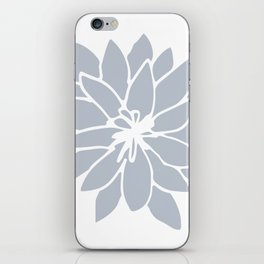 Flower Bluebell Blue on White iPhone Skin