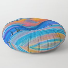I'd Rather Be Sailing by Teresa Thompson Floor Pillow