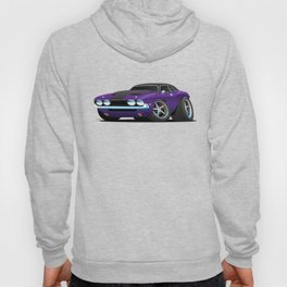 Classic Muscle Car Cartoon Hoody