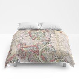 Harold N. Fisk Plate 22-13 Mississippi River Meander Belt Comforters