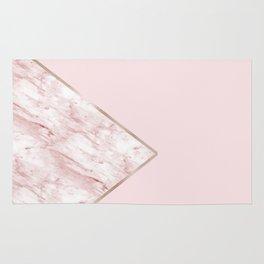 Blush pink geo - pink marble Rug