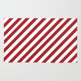 Candy Cane - Christmas Illustration Rug