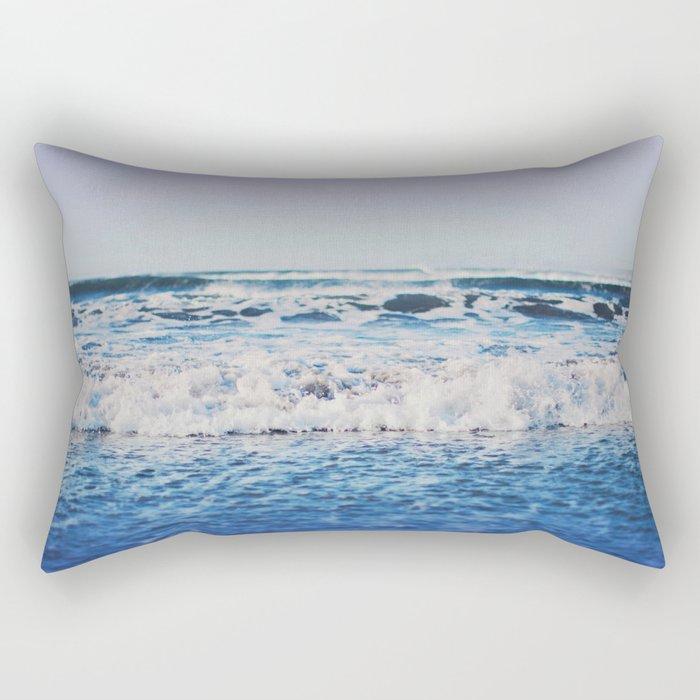 Indigo Waves Rectangular Pillow
