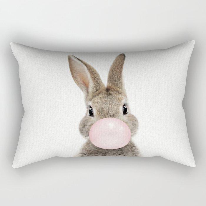 Bubble Gum Bunny Rectangular Pillow
