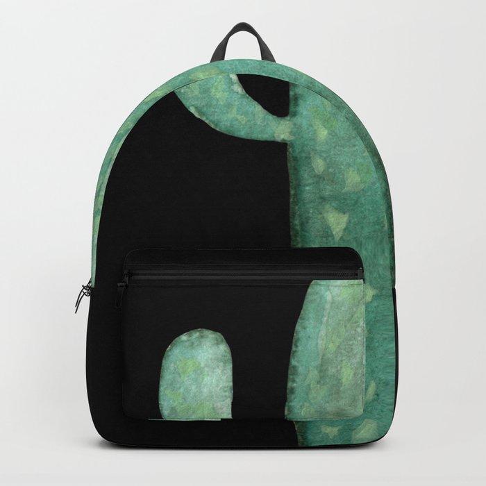 Arizona Night Cactus Mint Green Backpack