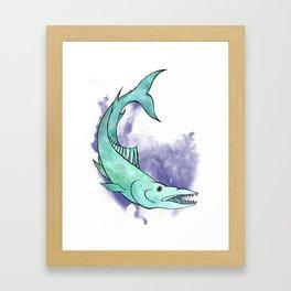 Underwater Animals - Barracuda Print Framed Art Print