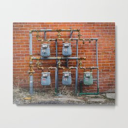 Shapes of Things Gas Meters from my street photography collection Metal Print