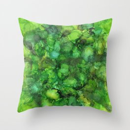 Through the Emerald Canopy Throw Pillow