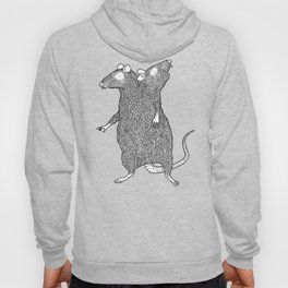 Two Headed Rat, I Love You Hoody