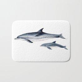 Atlantic spotted dolphin Bath Mat