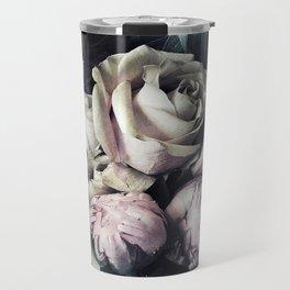 Roses and peonies vintage style Travel Mug