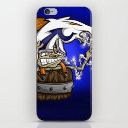 Blazing Bronco Fan Royal Stain iPhone Skin
