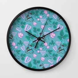 Chipmunks in the Strawberries Wall Clock