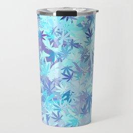Marijuana Cannabis Weed Pot Shades of Blue Travel Mug