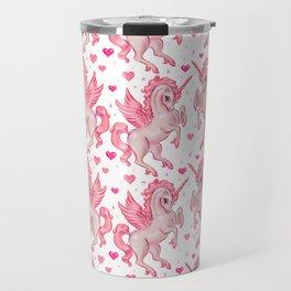 Pink Unicorn Pegasus Travel Mug