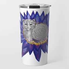 Buddha Cat Travel Mug