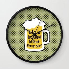 Cheap Beer Wall Clock