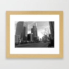Chicago's Marina Towers Framed Art Print