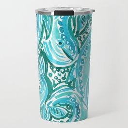 BLUE WHALE TWIRL Travel Mug