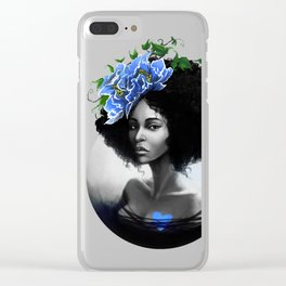 Blossom Afro Clear iPhone Case