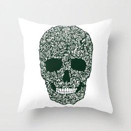 Moss Skull Throw Pillow