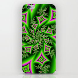 Green And Pink Shapes Fractal iPhone Skin