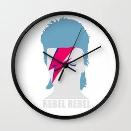 ROCK N ROLL STAR  #GRAPHIC HEAD rebelrebel Wall Clock