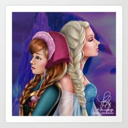 Frozen Sisters Art Print