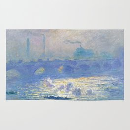 Claude Monet's Waterloo Bridge Rug
