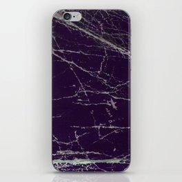 Purple Marble Crease Texture Design iPhone Skin