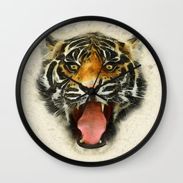 Tiger - Animal Faces Wall Clock