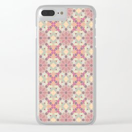 modern arabic pattern in pastel colors Clear iPhone Case
