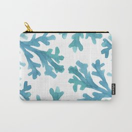 Blue Ombre Coral Carry-All Pouch