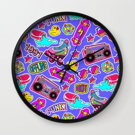 Back to the nineties! Blue Wall Clock