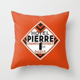 Hotel Pierre Paris Art Deco Throw Pillow