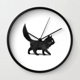 Creeping Cat Wall Clock