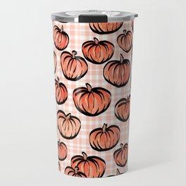 Pumpkin Patch Plaid Travel Mug