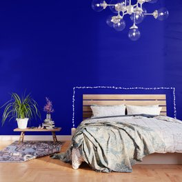 Simple Solid Color Earth Blue All Over Print Wallpaper