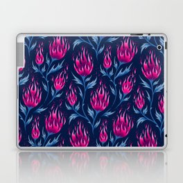 Fire Flower - Dark Pink Laptop & iPad Skin
