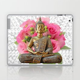 Buddha Rose Silver Mandala Laptop & iPad Skin