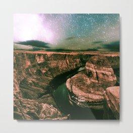 Desert Starry Night Metal Print