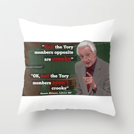 """Crooks"" Throw Pillow"