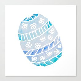 Easter Egg in Blue and Teal Canvas Print